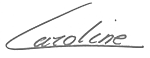 caroline de cristofaro signature